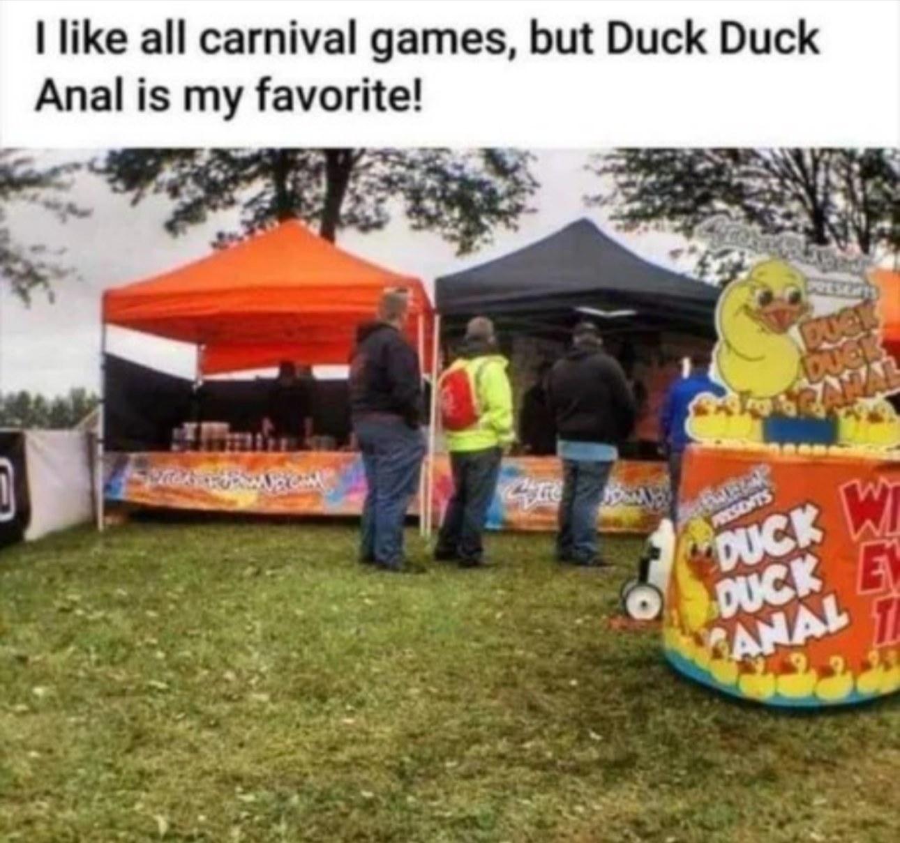 Duck duck anal - meme
