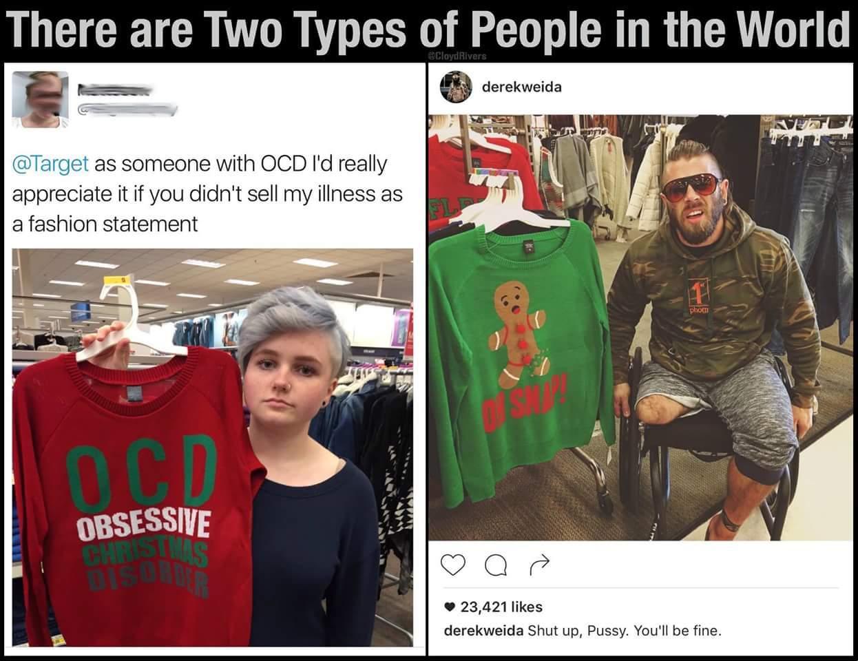 Fuck the girl/guy/idek in the left pic. Stupid fucking idiot - meme
