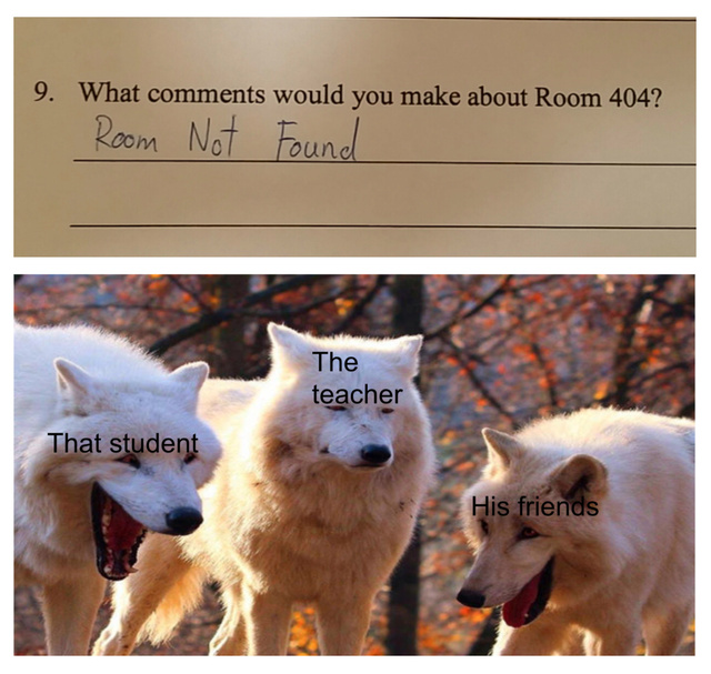 What comments would you make about Room 404? - meme