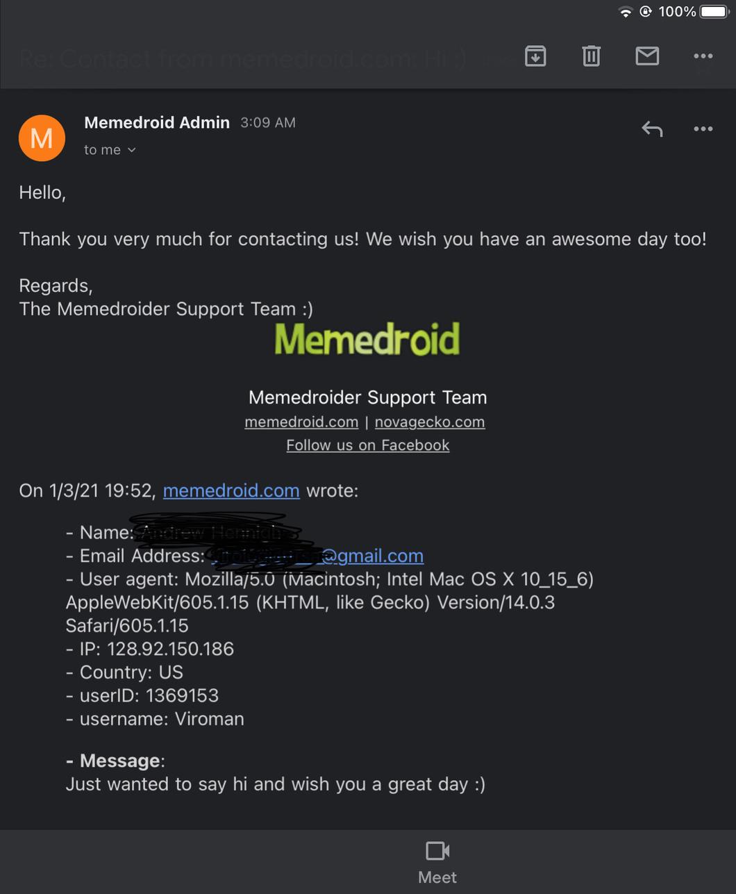 We should all say hi to memedroid :)