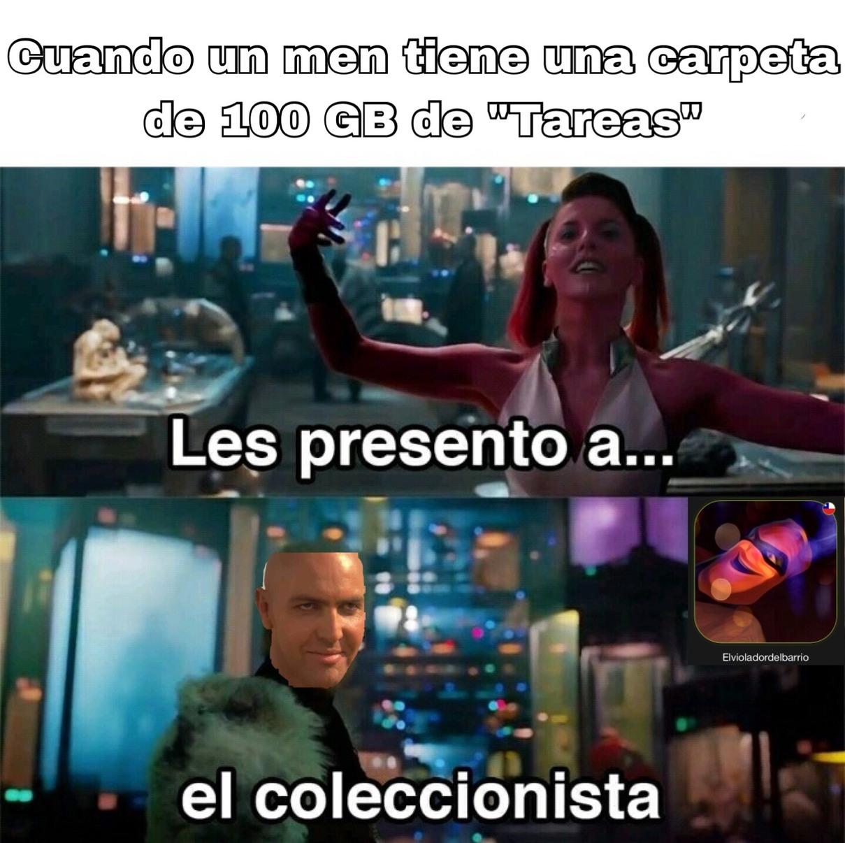 El coleccionista de tareas - meme