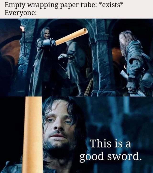 A nice sword - meme