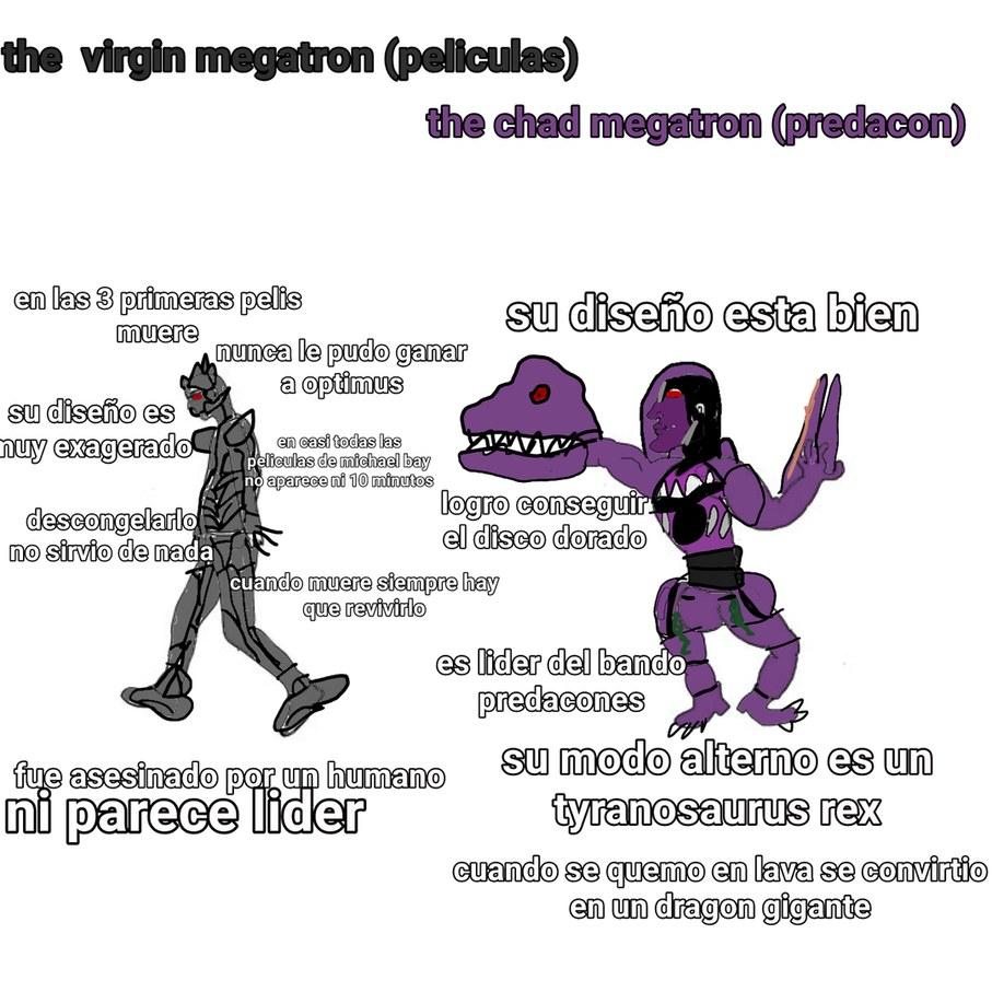 Son 2 megatrons distintos aceptenlo me costo - meme