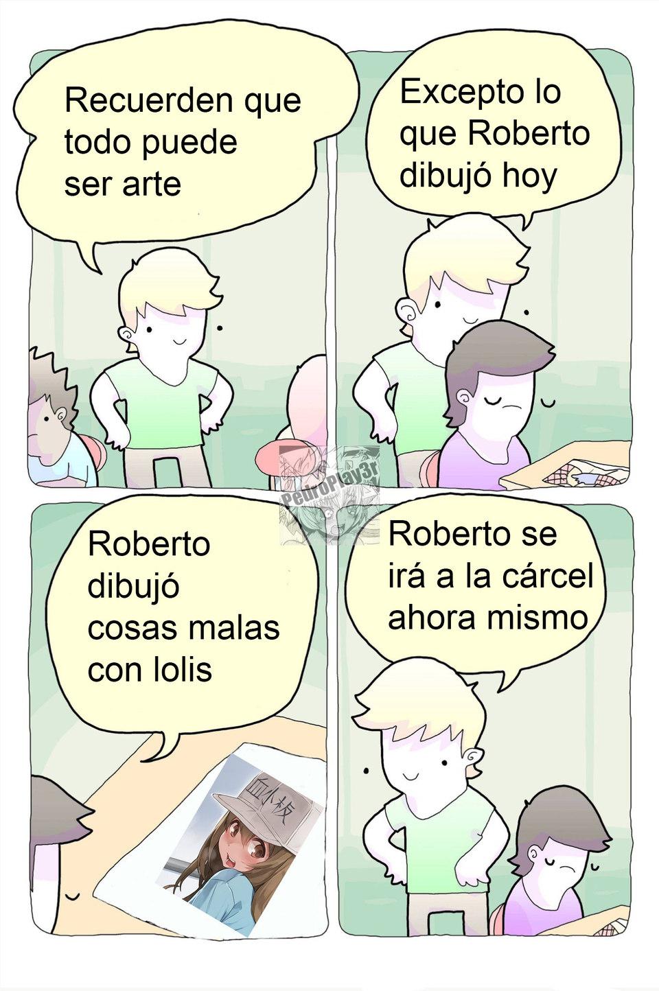 Roberto se irá a la cárcel - meme