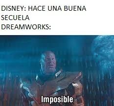 Dreamworks es admin de las secuelas - meme