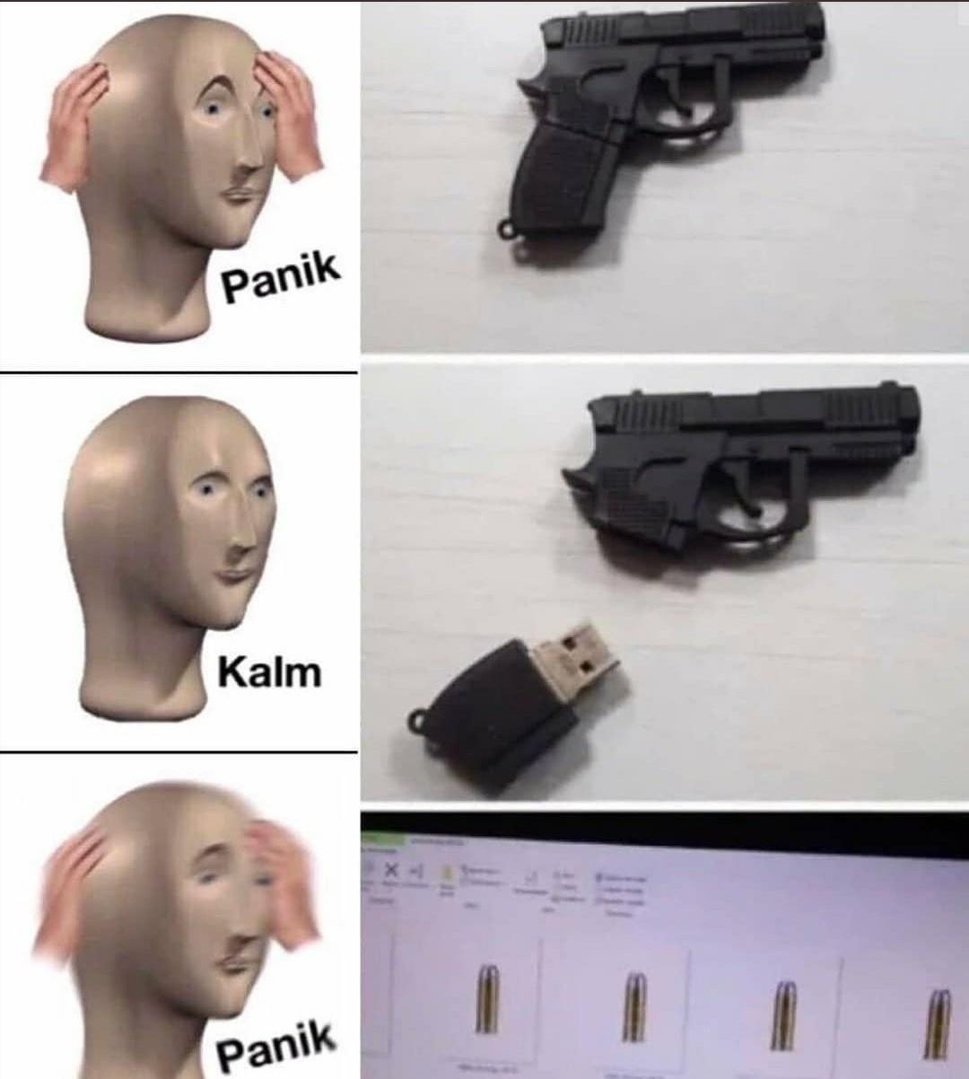 Pendrive estado unidense - meme
