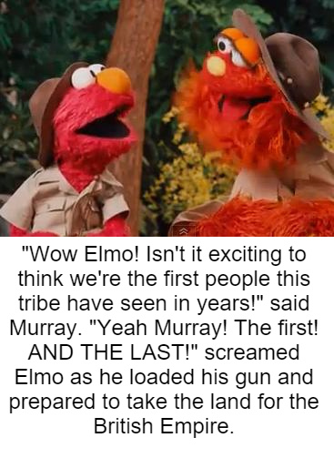 Elmo is a psychopath - meme