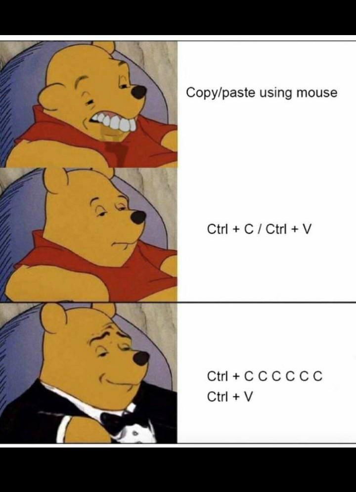 I use the mouse ;( - meme