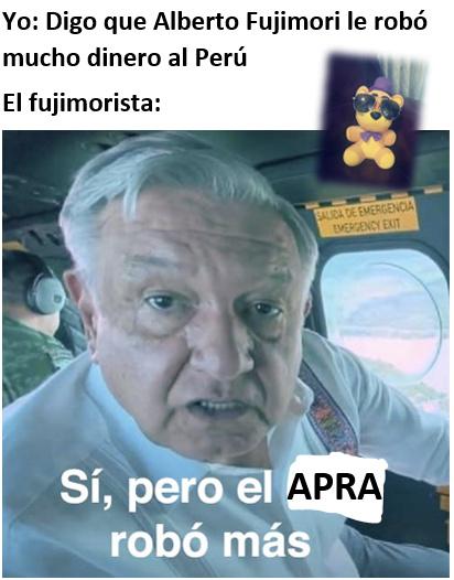 Fujimori de mierda - meme