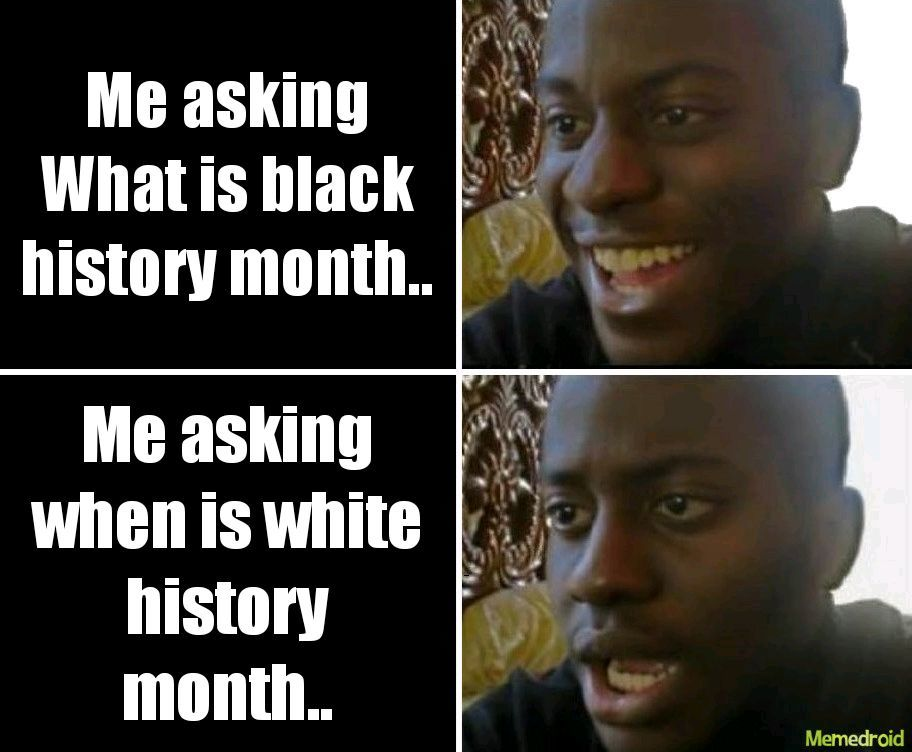 Oh so white history would be racist.. I get it - meme