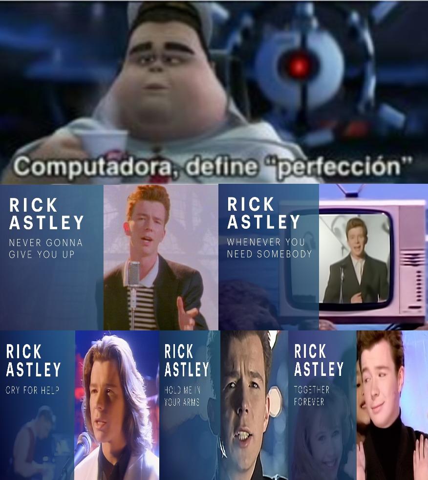 Rick Astley 11 años de sus Musicales - meme