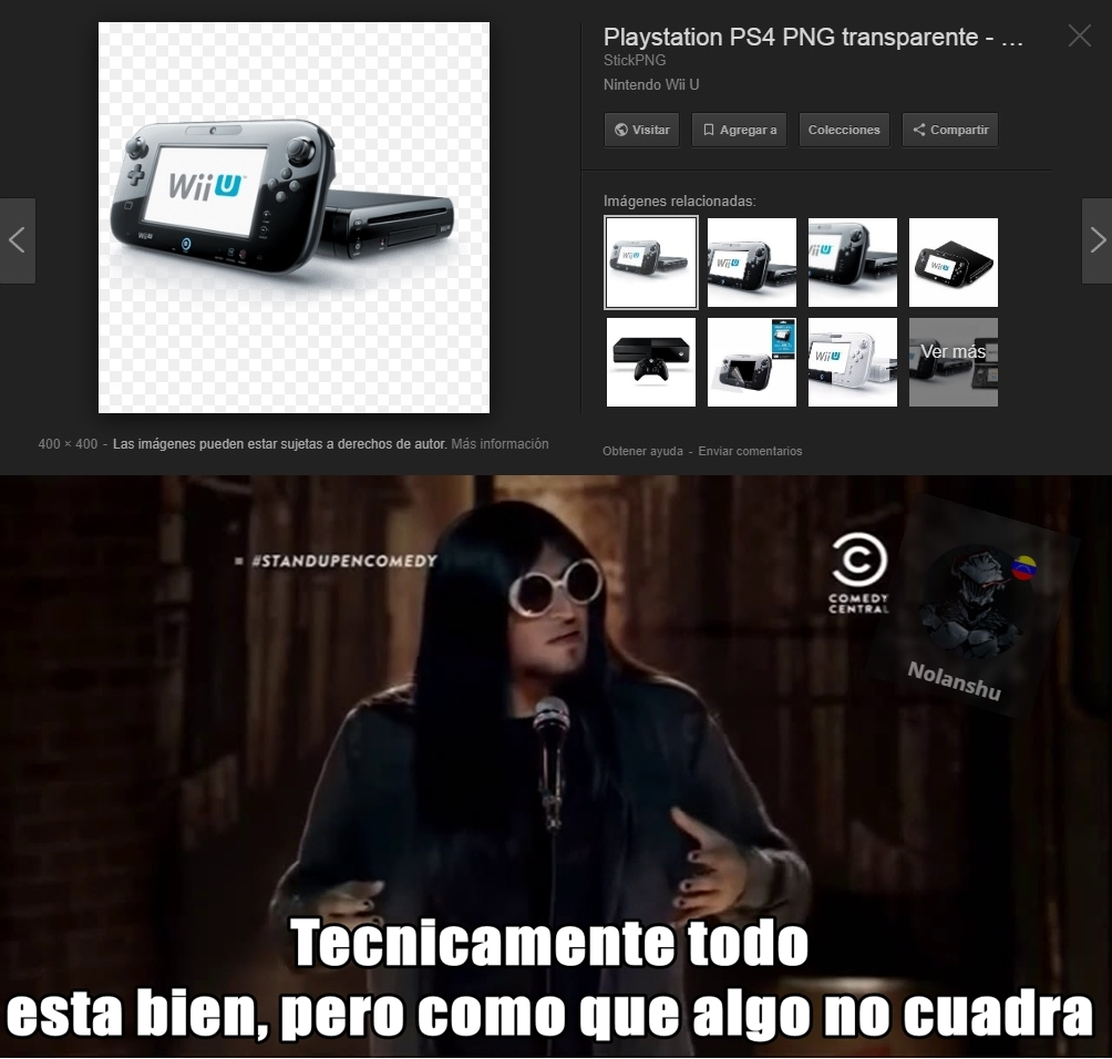 busque PS4 y encontre nintendos Wii U :v - meme