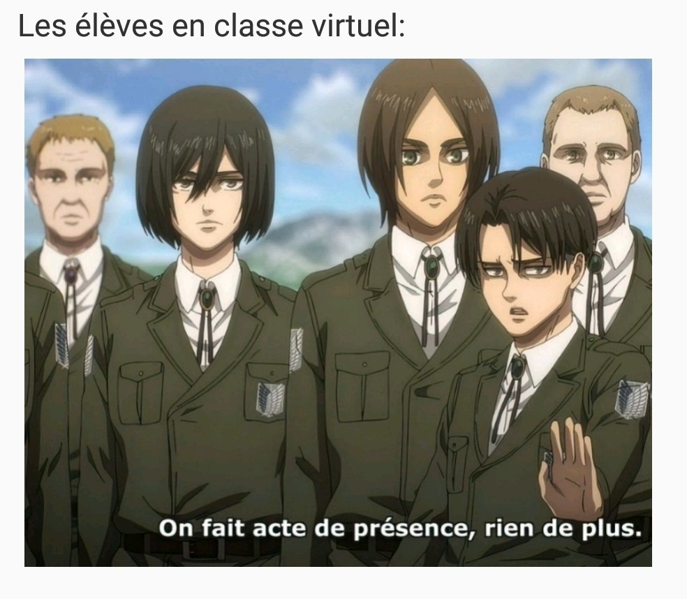 Vous préférez les classes virtuelles ou les cours à l'école ? - meme