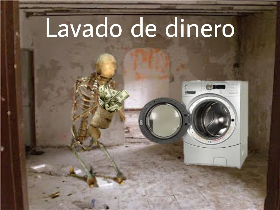 Lavado de dinero - meme