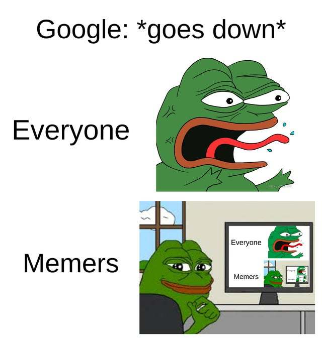 Google went down - meme
