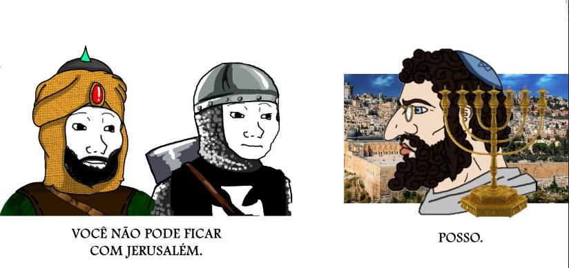 Jerusalém nunca será dos palestinos, Não permitiremos. - meme