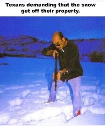 Get off my lawn, snow!! - meme