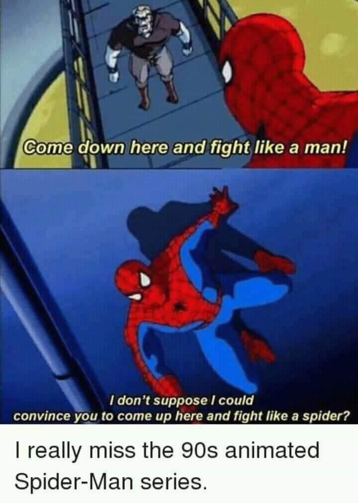 Spidey gave no shits. - meme