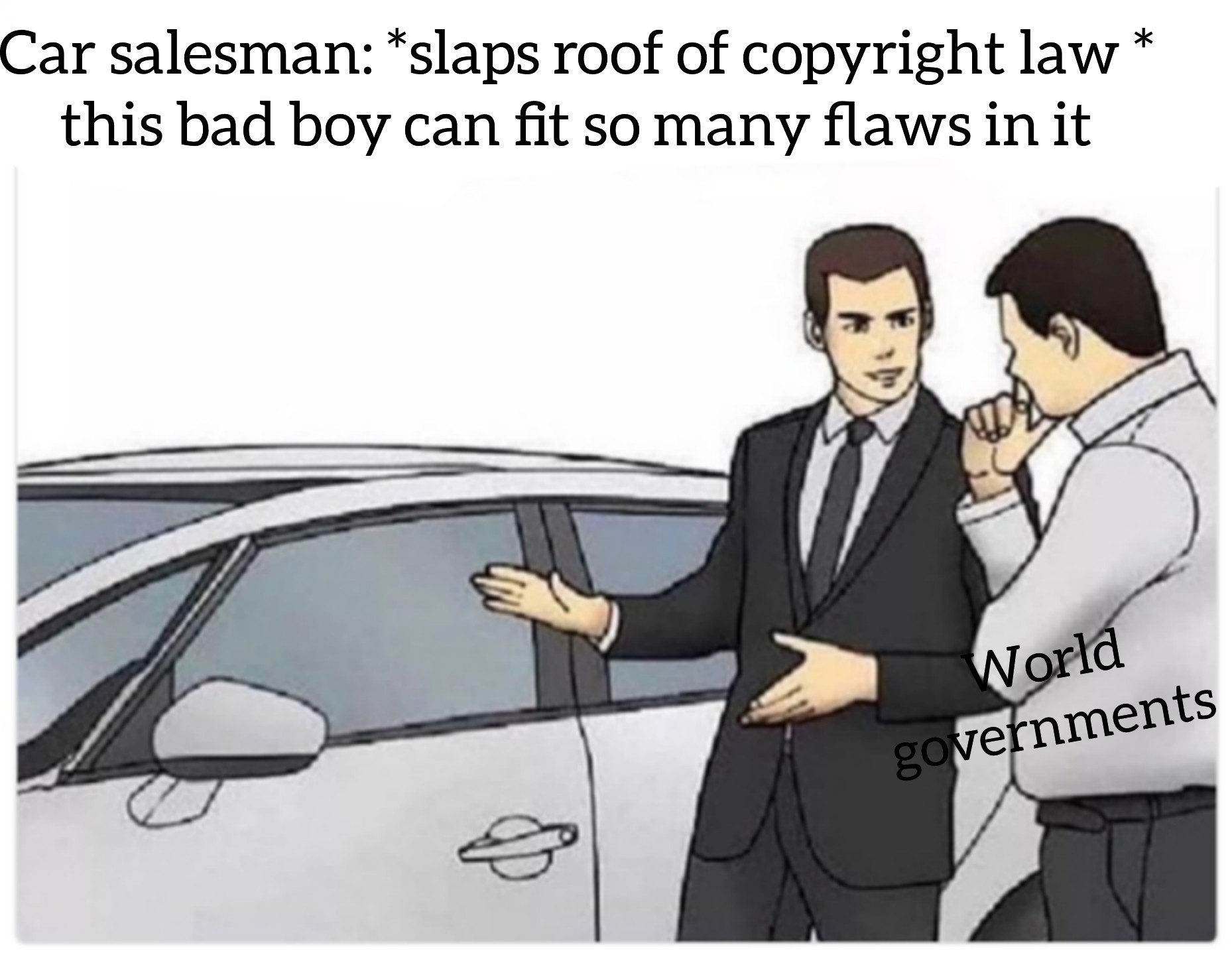 The title was sued and now is defending himself in court - meme
