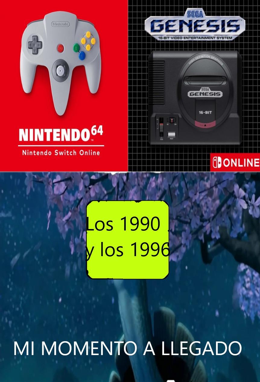 Nintendo 64 y Mega Drive Sega vuelve en acción - meme