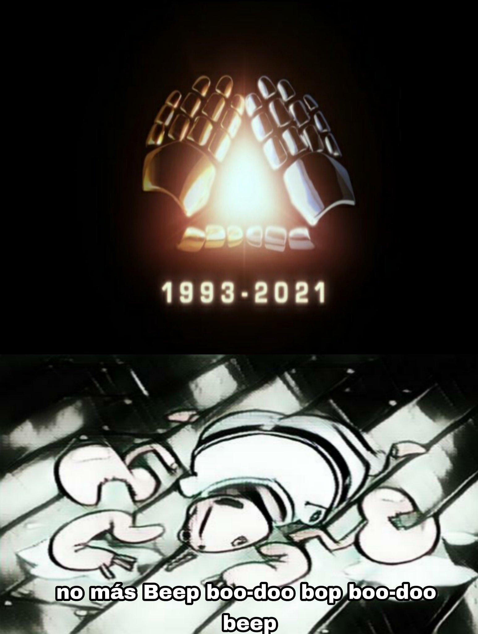 """Ami en serio que me gustaban, eran legendarias sus canciones (como """"human after all"""" o """"superheroes""""), hasta vi Interstella 5555, bueno, si este es su fin, al menos agradezco haber conocido su genial existencia desde antes de su separación - meme"""