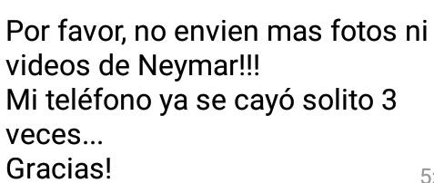 Por favor ya no me envien cosss dobre Neymar - meme