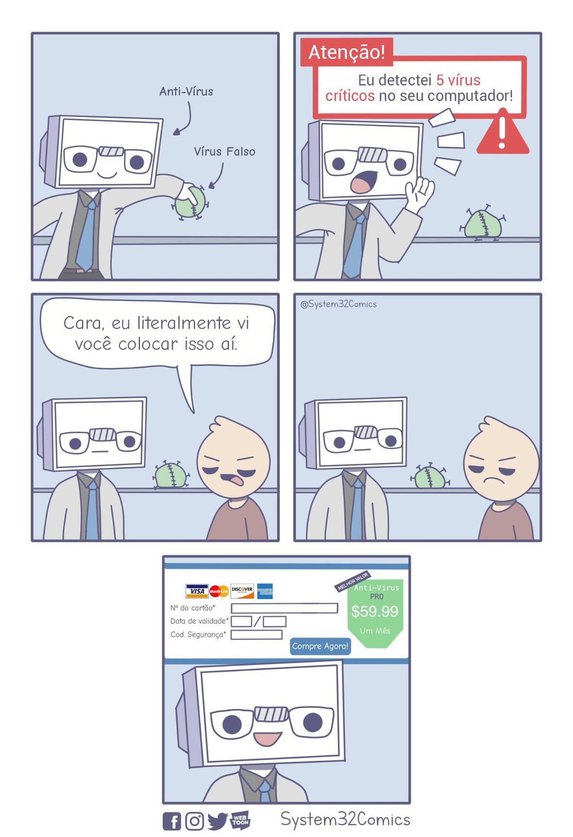 O anti-vírus - meme