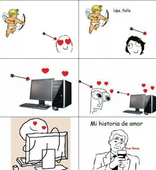 historia de amor - meme