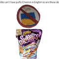 No puffy Cheetos in English class