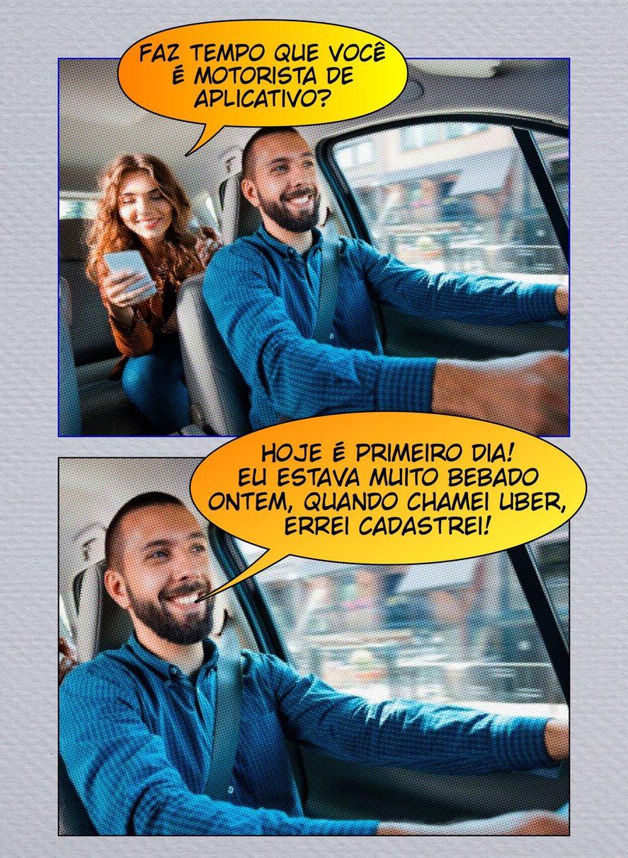 motorista de aplicativo - meme