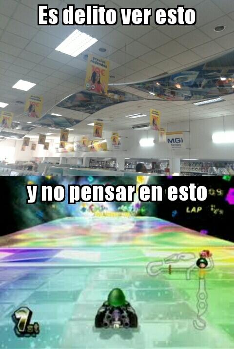 Mario Kart Wii - Senda arcoiris (copa Especial) - meme