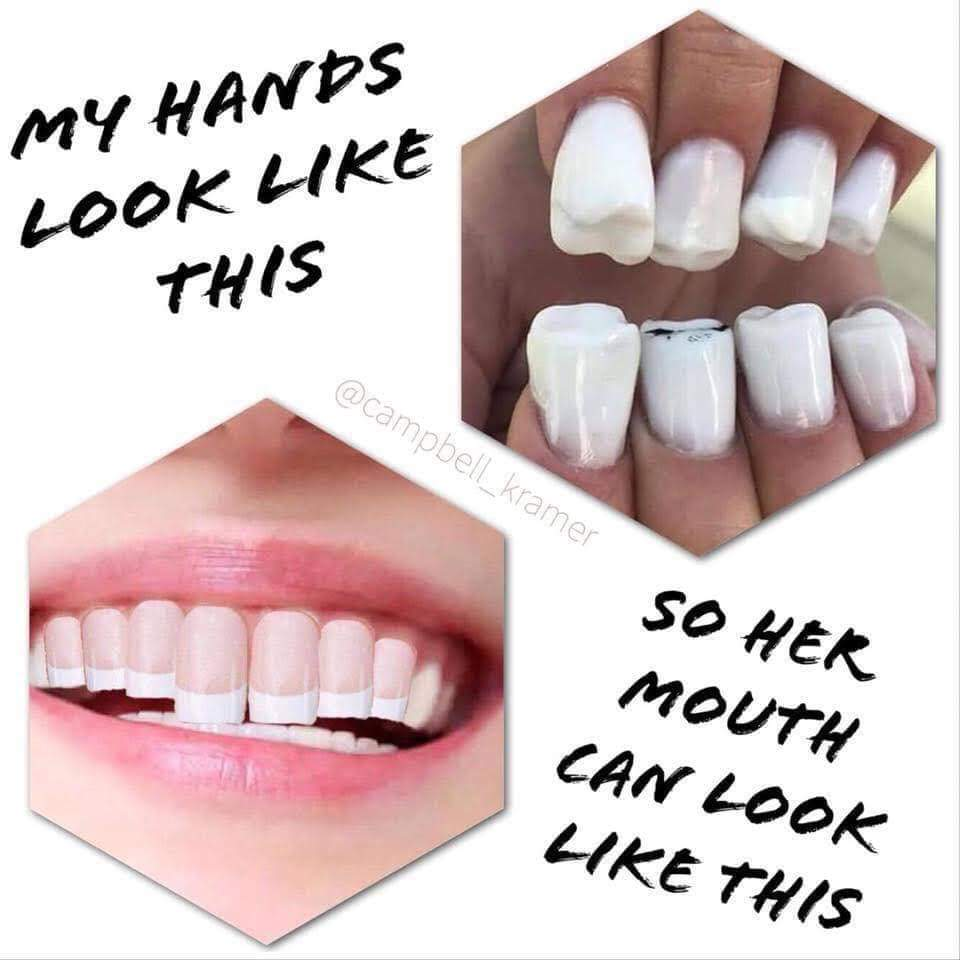 So her mouth can look like this - meme