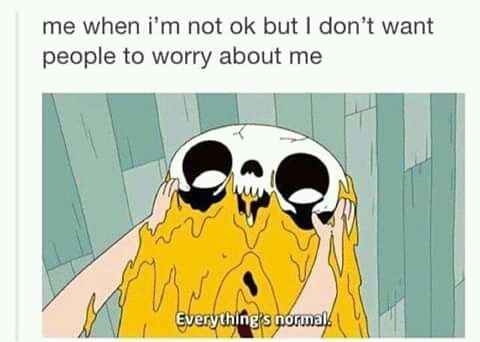 Everything's fine - meme
