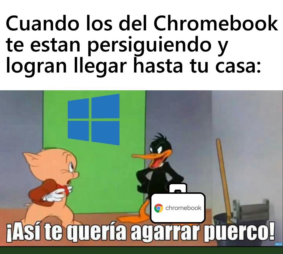 Yo logre huir de esos que quieren venderte un Chromebook - meme