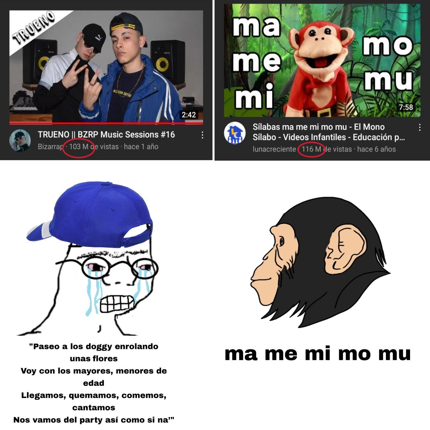 El trueno Pai vs monke - meme