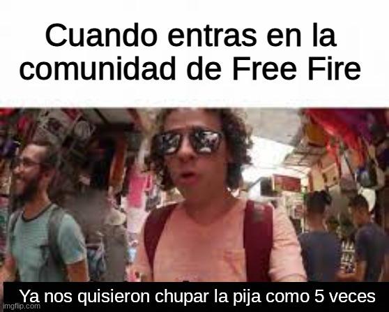 free fire, el juego favorito de los gays - meme