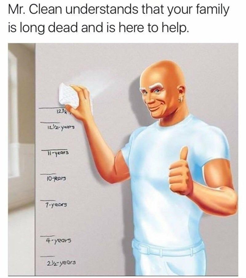 Thanks Mr.Clean - meme