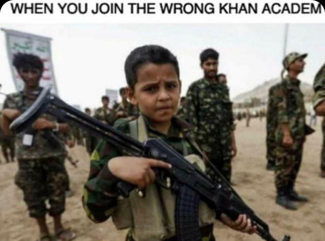 Khan is really a homie tho - meme