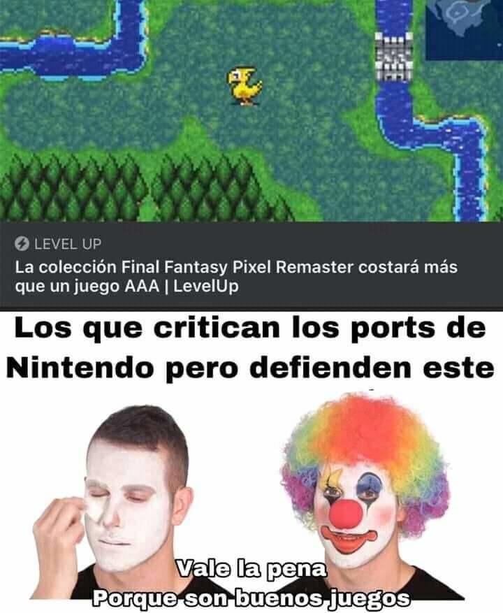 No estoy defendiendo a Nintendo - meme