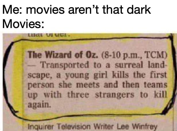 Dark movies - meme