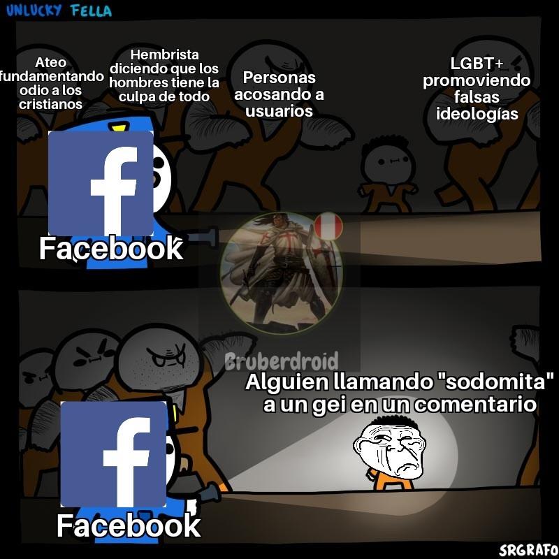 Facebook siempre se arde con lo más pequeño :son: - meme