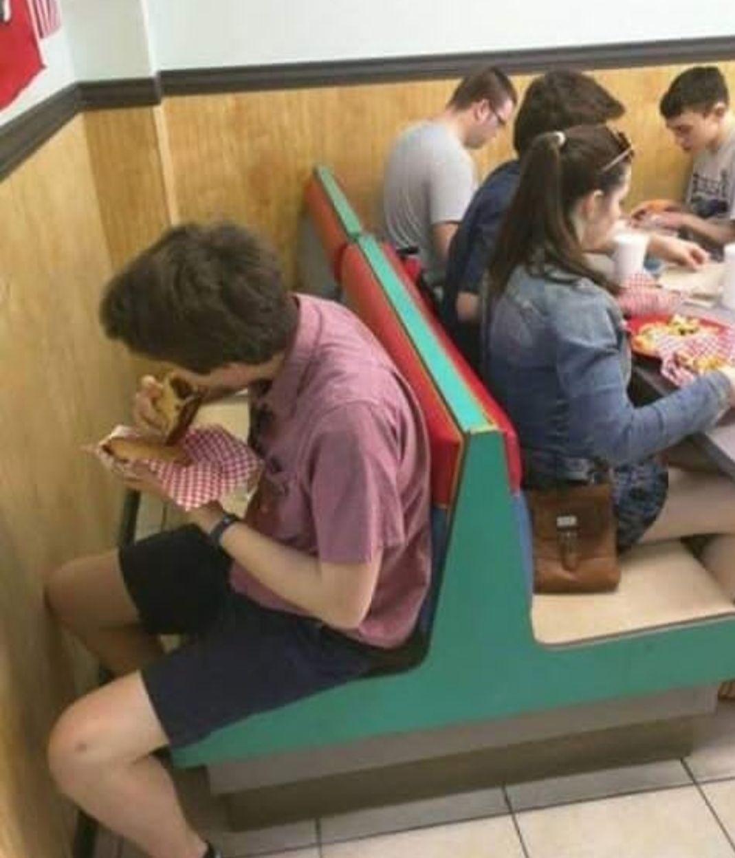 Eating all alone - meme