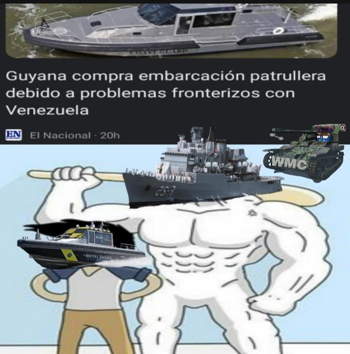 Qué coño pueden hacer unas patrullas contra las corbetas Bolivarianas? - meme