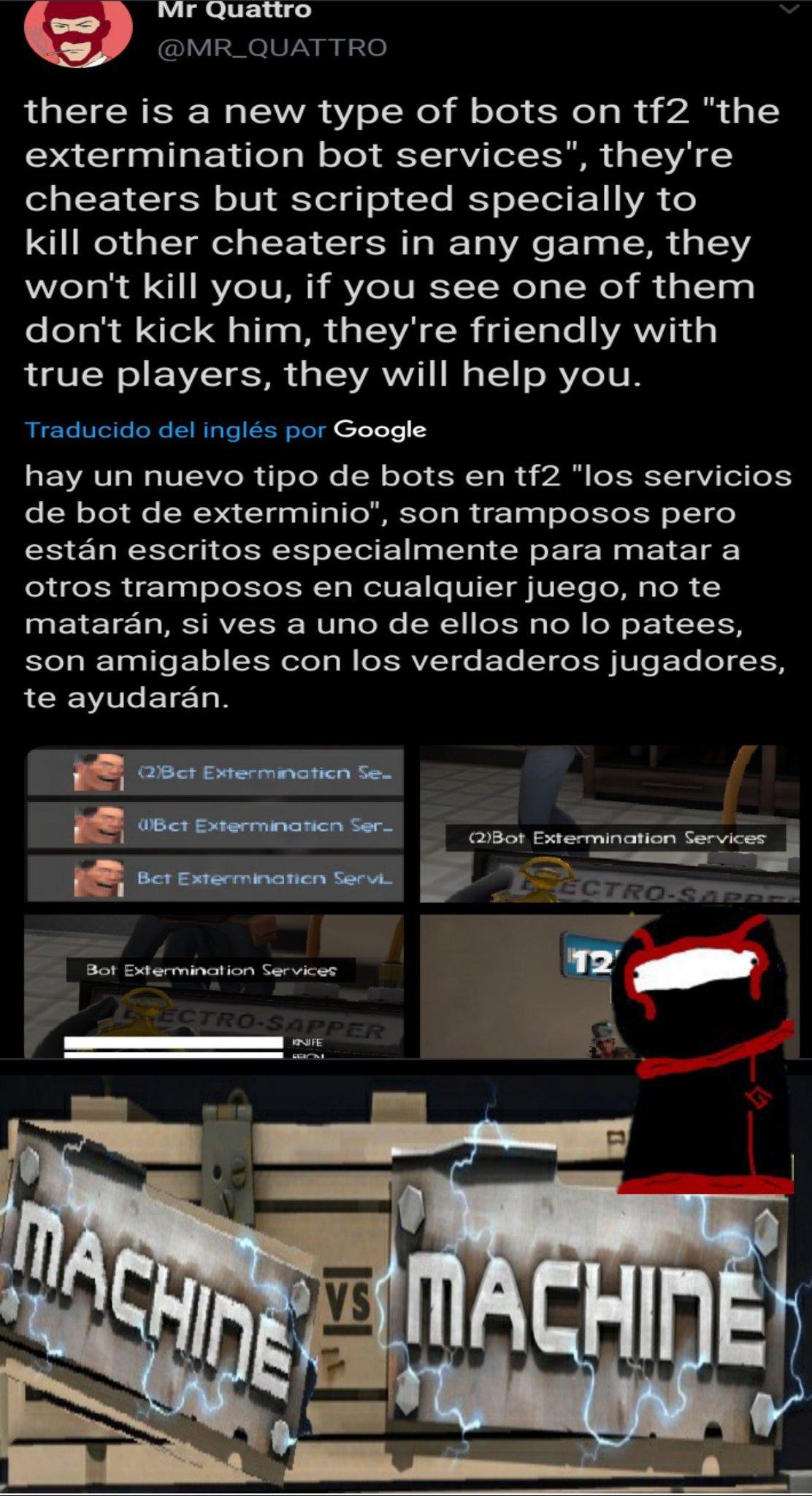 Use a los bots para destruir a los bots - meme