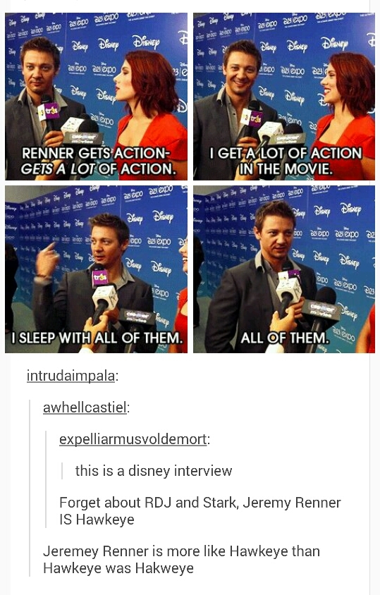 jeremy renner is awesome - meme