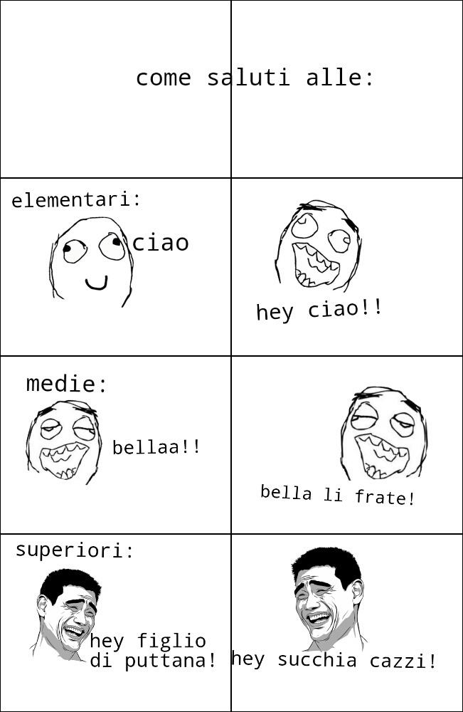 Alle superiori! - meme