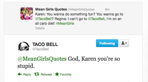 the taco bell twitter is fucking great - meme
