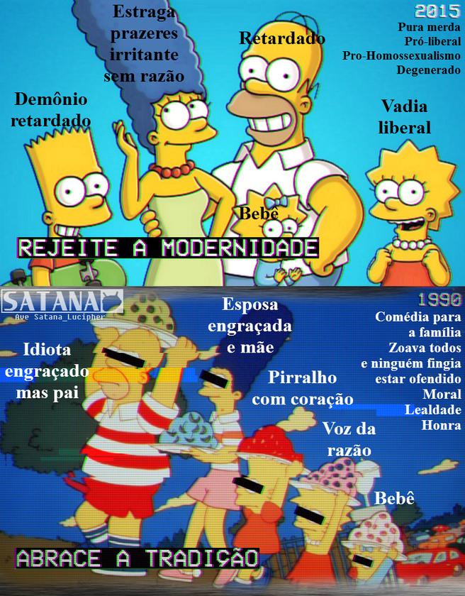 Se você gosta das novas temporadas d'Os Simpsons, ev qvero qve você morra! Deveriam voltar ao Fvtvrama, vm desenho qve tem fvtvro :awwyeah: - meme