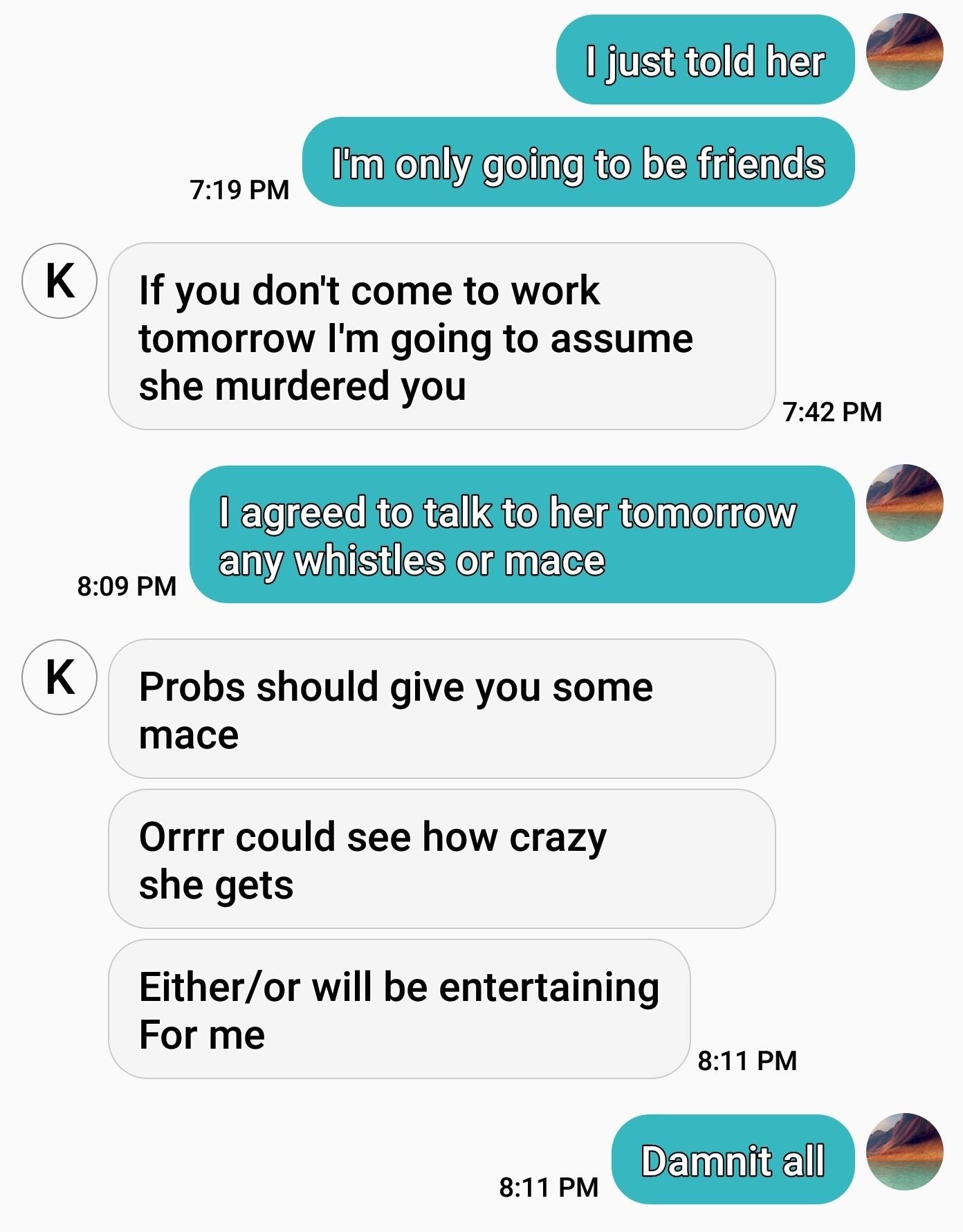 Friend zoning white girl problems - meme
