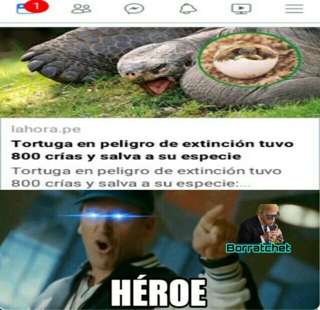 Heroe verdadero. - meme